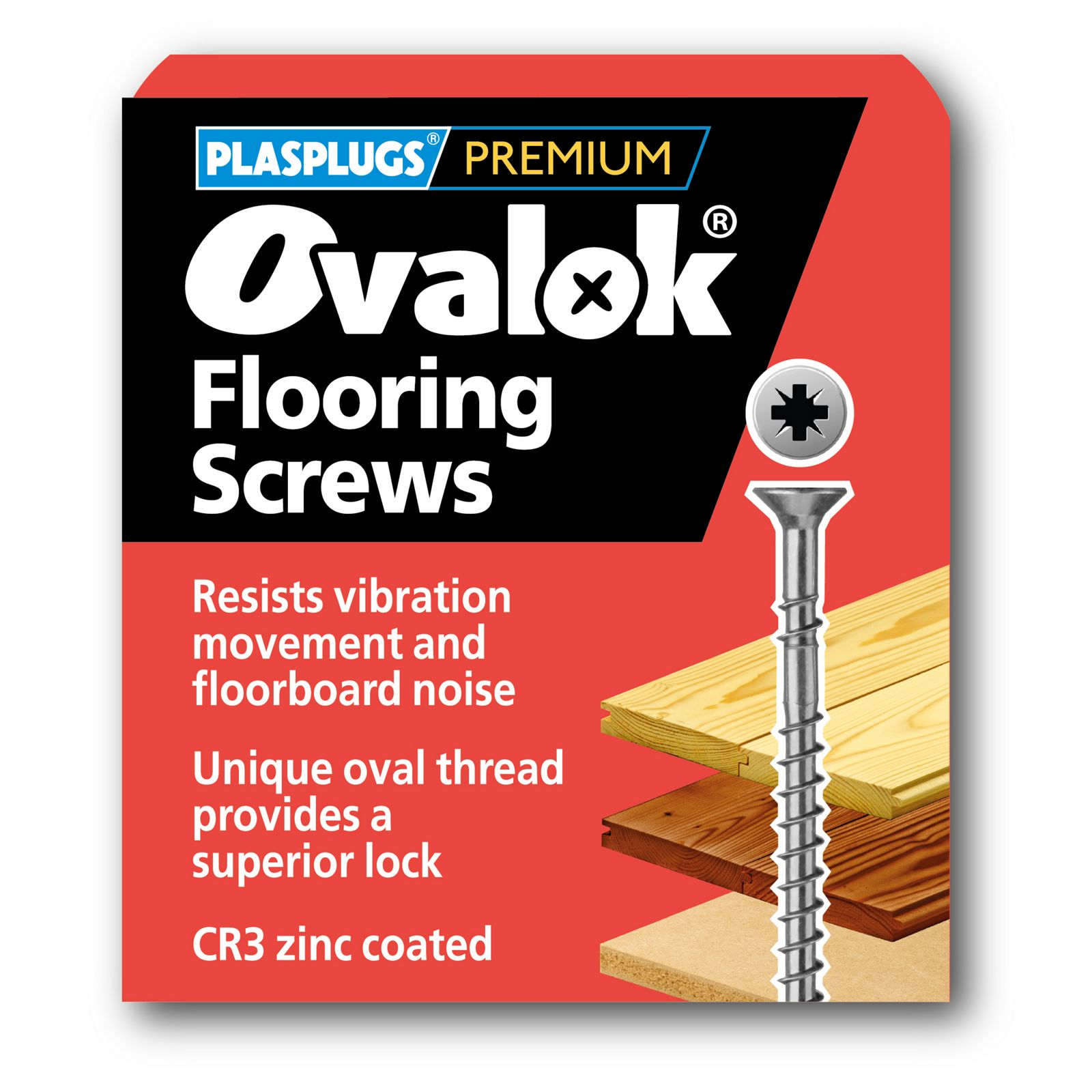 Plasplugs Ovalok Flooring Screws